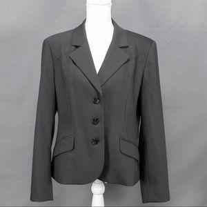 Talbots Womens Classic Black Blazer Sz 14 Lined